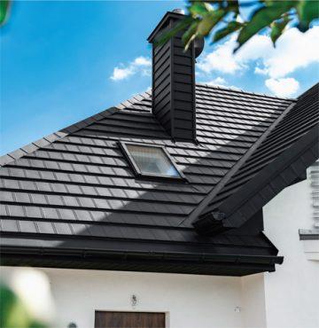 покрив с комин