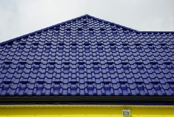 сини метални керемиди